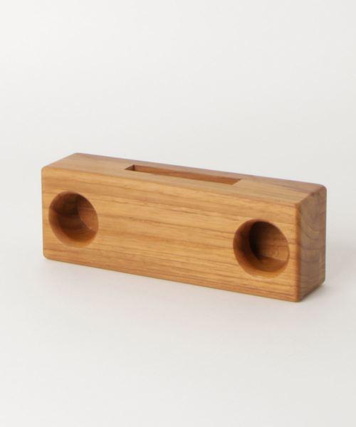 【 CURIOUS / キュリアス 】 ウッドスピーカー iPhone対応 底部左右両側対応タイプ Wood Speaker CUR