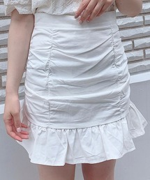 【Crea titty&Co.PETIT】Crea フリルミニスカートオフホワイト