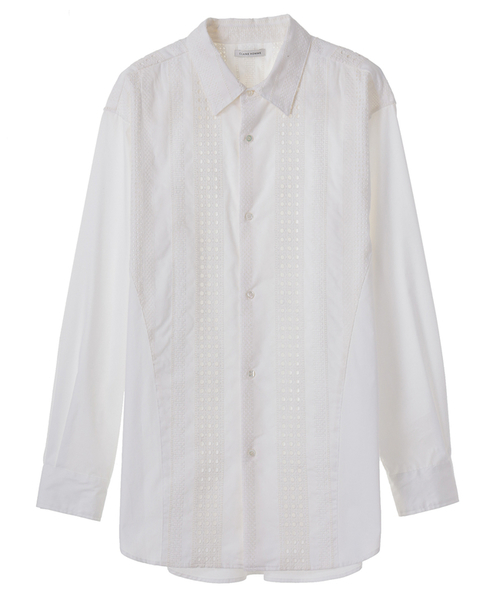 EMBROIDERY COMBI SHIRT