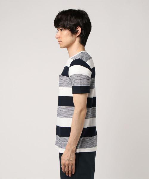 【PANASPUR】ニュアンスタッチボーダーTシャツ