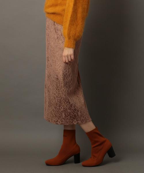 ベロアレーススカート