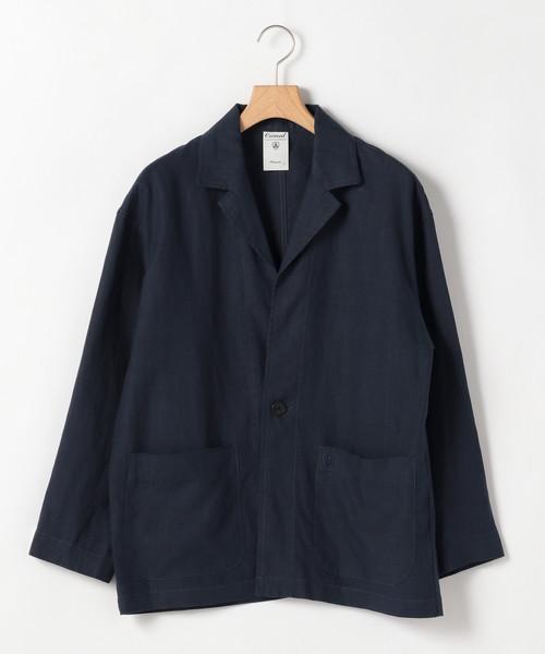 柔らかな質感の 【ORCIVAL】リネンテーラードジャケット, エヌライティング d6094698