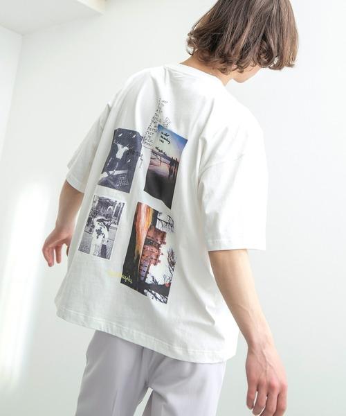 Mark Gonzales/マークゴンザレス EMMA CLOTHES別注 ビッグシルエットロゴ刺繍×バックプリント 半袖 Tee(背面プリント)