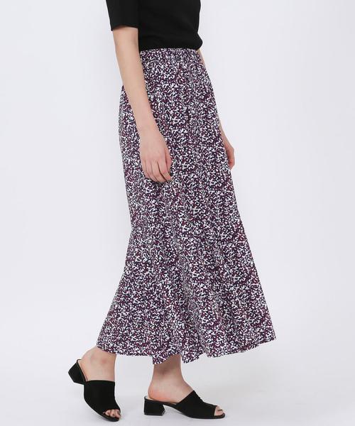 マーメイドプリントスカート
