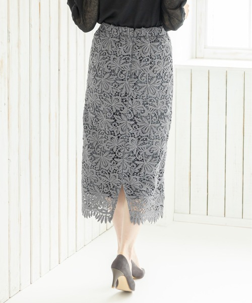 12Twelve Agenda(トゥエルブ アジェンダ)の「エンブロイダリーレースナロースカート(スカート)」|詳細画像