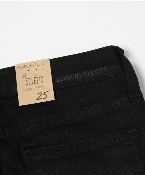 Current Elliott(カレントエリオット) the stiletto BLACK ブラックスキニーデニム
