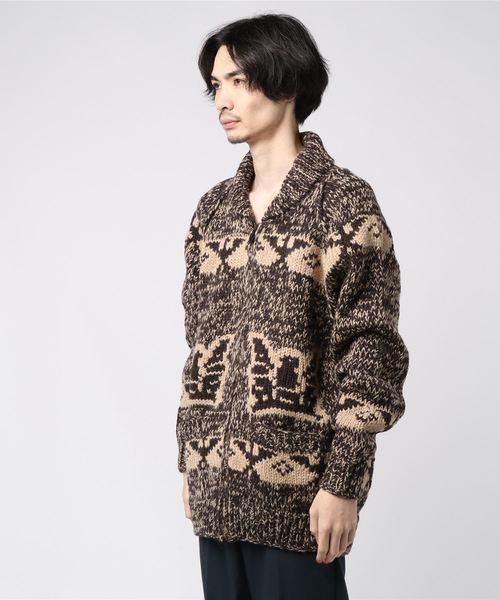 人気が高い  【HOUSTON】カウチン セーター(EAGLE), 人気絶頂 691ba67f
