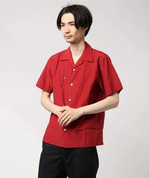 DIAGRAM NOTE刺繍 半袖オープンカラーシャツ