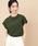 ADAM ET ROPE'(アダムエロペ)の「強撚コットンクルーネックフレンチTEE(Tシャツ/カットソー)」|カーキ