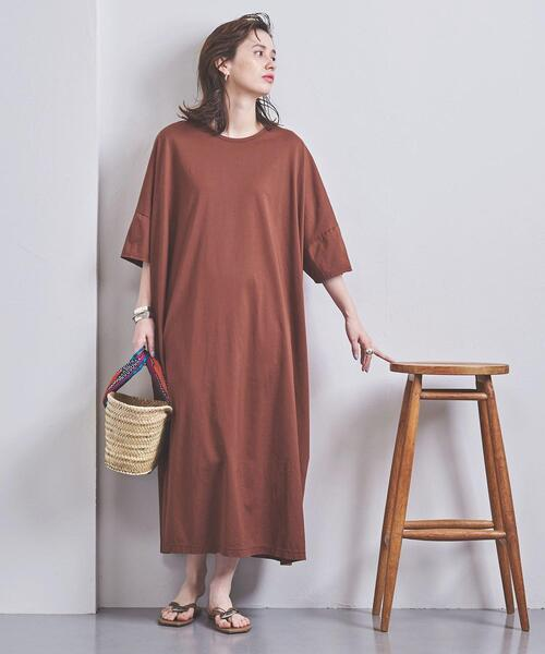 <STYLE for LIVING>ビッグ ロング Tシャツワンピース†