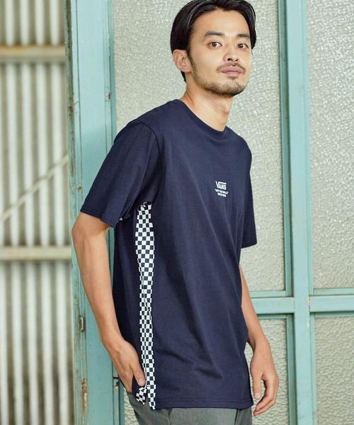 VANS/ヴァンズ Side Check Print T-Shirt サイドチェックプリント半袖Tシャツ