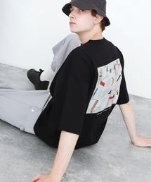 ART×EMMA CLOTHES別注 アート転写プリントビックシルエット半袖カットソー バックプリント グラフィック カットソーその他3