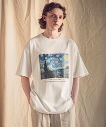 ART×EMMA CLOTHES別注 アート転写プリントビックシルエット半袖カットソーホワイト系その他