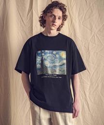 ART×EMMA CLOTHES別注 アート転写プリントビックシルエット半袖カットソーブラック系その他