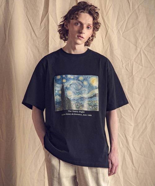 ART×EMMA CLOTHES別注 アート転写プリントビックシルエット半袖カットソー グラフィック カットソー