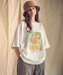 ART×EMMA CLOTHES別注 アート転写プリントビックシルエット半袖カットソーホワイト系その他2
