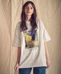ART×EMMA CLOTHES別注 アート転写プリントビックシルエット半袖カットソーホワイト系その他3