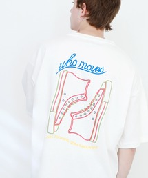ART×EMMA CLOTHES別注 アート転写プリントビックシルエット半袖カットソー バックプリント グラフィック カットソーホワイト系その他5