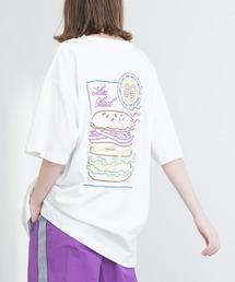 ART×EMMA CLOTHES別注 アート転写プリントビックシルエット半袖カットソー バックプリント グラフィック カットソーホワイト系その他6