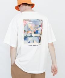 ART×EMMA CLOTHES別注 アート転写プリントビックシルエット半袖カットソー バックプリント グラフィック カットソーホワイト系その他7