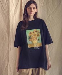 ART×EMMA CLOTHES別注 アート転写プリントビックシルエット半袖カットソーブラック系その他2