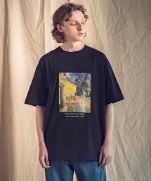 ART×EMMA CLOTHES別注 アート転写プリントビックシルエット半袖カットソーブラック系その他3