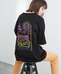 ART×EMMA CLOTHES別注 アート転写プリントビックシルエット半袖カットソー バックプリント グラフィック カットソーブラック系その他6