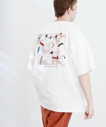 ART×EMMA CLOTHES別注 アート転写プリントビックシルエット半袖カットソー バックプリント グラフィック カットソーその他