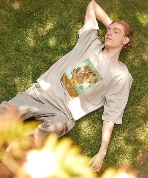 ART×EMMA CLOTHES別注 アート転写プリントビックシルエット半袖カットソー バックプリント グラフィック カットソー