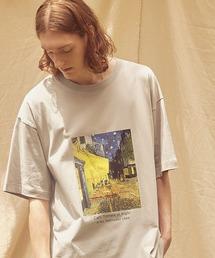 ART×EMMA CLOTHES別注 アート転写プリントビックシルエット半袖カットソーブラウン系その他3