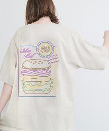 ART×EMMA CLOTHES別注 アート転写プリントビックシルエット半袖カットソー バックプリント グラフィック カットソーベージュ系その他6