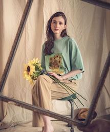 ART×EMMA CLOTHES別注 アート転写プリントビックシルエット半袖カットソーグリーン系その他2