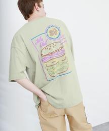 ART×EMMA CLOTHES別注 アート転写プリントビックシルエット半袖カットソー バックプリント グラフィック カットソーグリーン系その他6