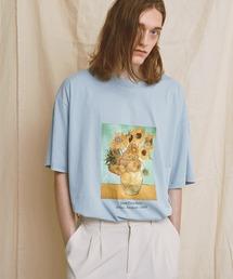 ART×EMMA CLOTHES別注 アート転写プリントビックシルエット半袖カットソー グラフィック カットソーブルー系その他2