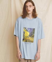 ART×EMMA CLOTHES別注 アート転写プリントビックシルエット半袖カットソー グラフィック カットソーブルー系その他3