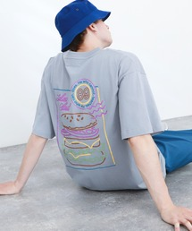 ART×EMMA CLOTHES別注 アート転写プリントビックシルエット半袖カットソー バックプリント グラフィック カットソーブルー系その他6