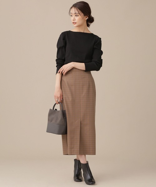 [nano・universe] クラシックチェックタイトスカート