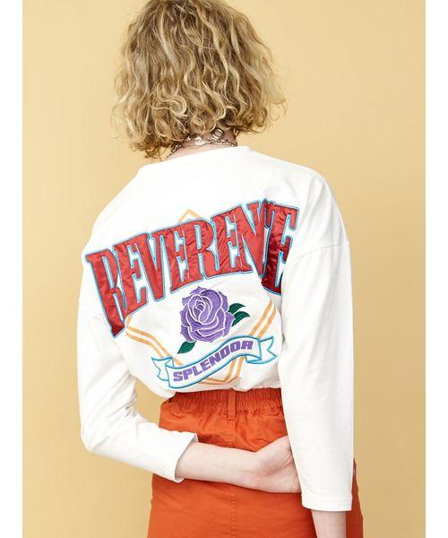 jouetie(ジュエティ)の「バックBIGロゴロンT/オーバーサイズカットソー(Tシャツ/カットソー)」|オフホワイト