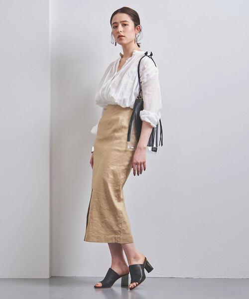 UWCS L/C マキシ タイトスカート