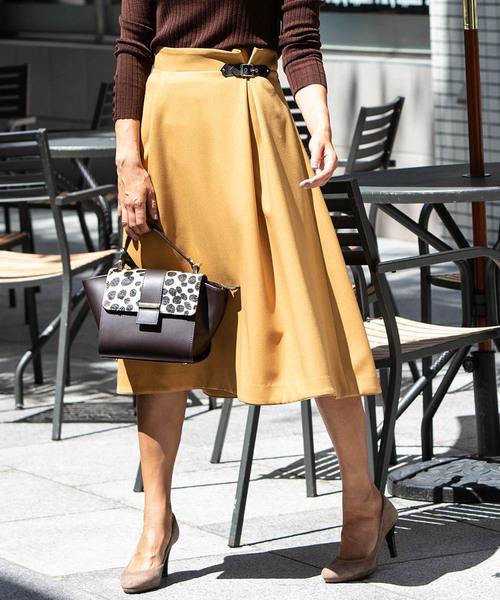 日本製 Viaggioバックルフレアスカート(スカート)|Viaggio Blu(ビアッジョブルー)のファッション通販, 伊勢屋グローイングアップ:d1263fb4 --- blog.buypower.ng