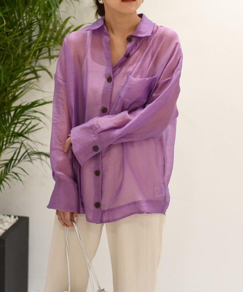 【Eimee Law】シアーゆるシャツ
