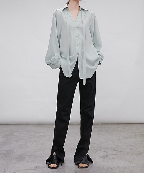 【chuclla】【2021/AW】Side slit jeans chw21a074