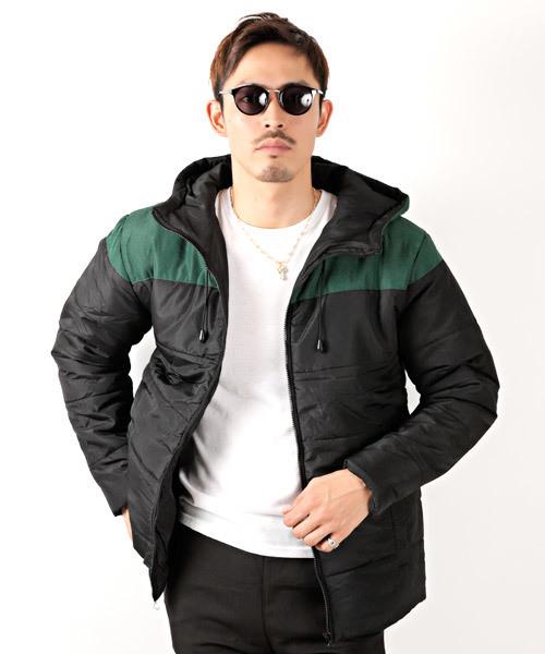 ポリ中綿切り替えフードジャケット