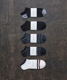 HARUSAKU CC(ハルサクシーシー)のHARUSAKU CC  Men's Sneaker socks 5P set (A):メンズスニーカーソックス5Pセット(ソックス/靴下)