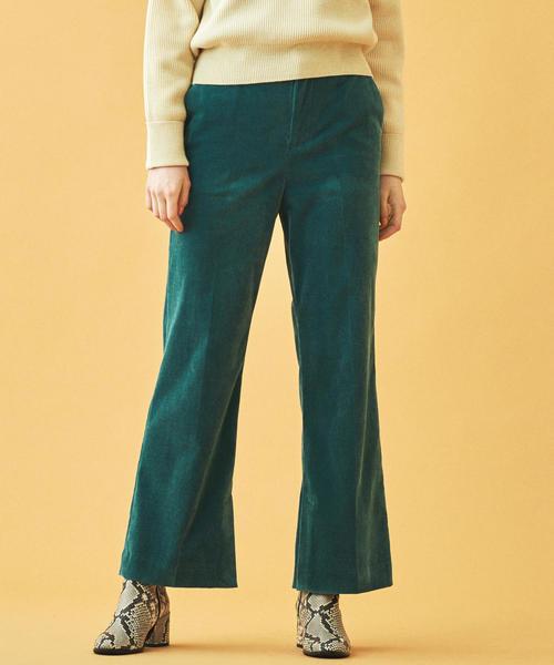 代引き人気 ポリエステルコットンレーヨンコーデュロイ セミフレアパンツ(パンツ)|MACPHEE(マカフィー)のファッション通販, 【国内在庫】:ccdb4644 --- fahrservice-fischer.de