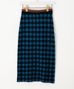 SCOTCH & SODA スコッチアンドソーダ / チェック ニットタイトスカート