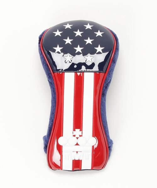 U.S.FLAG ENAMEL LETHER HEAD COVER (FOR DR)
