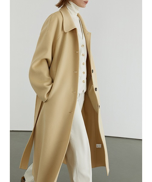【Fano Studios】【2021AW】River tailored belted bal collar coat FD20W162