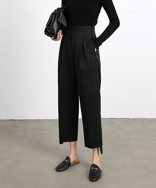 【chuclla】【2021/AW】Nine point straight leg trousers chw21a075