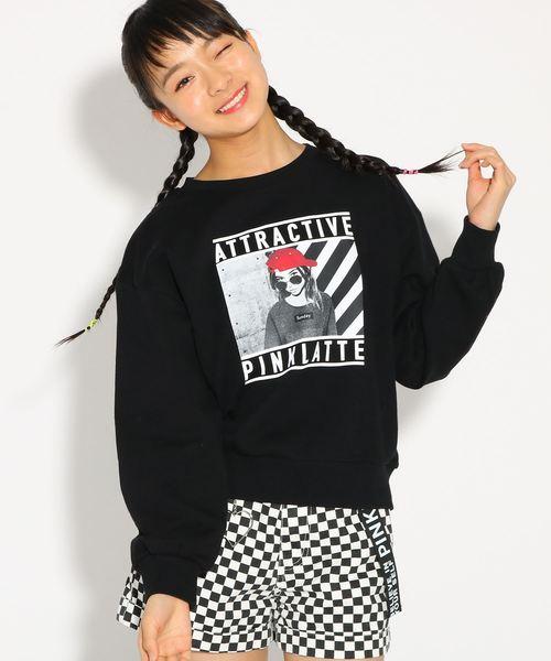 【コットン100%】裏毛 転写 トップス
